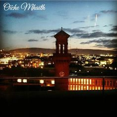 Good Night From Ireland  This view over Dublin at night is from @trinitycity_hotel