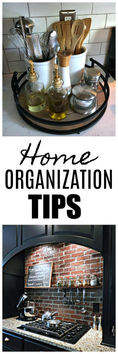 Cute kitchen ideas and lots of organizing tips.