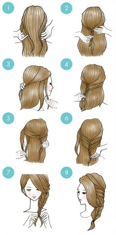 20 Easy and cute hairstyles that can be done in just a few minutes! /French braid