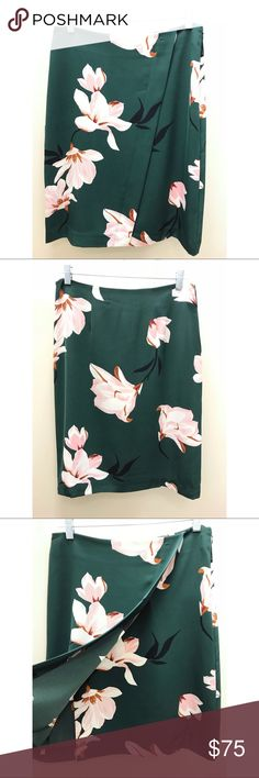 Ann Taylor Factory Floral Skirt NWT, gorgeous color and elegant floral pattern Ann Taylor Skirts Midi