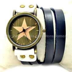 Vintage Genuine Real Leather Watches Band Lady Woman
