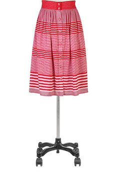 eShakti Button front stripe skirt -- LOVE THIS!