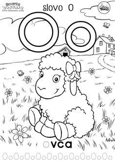 Slovo O - ABECEDA BOJANKE - pisanje slova za predškolsku dob i prvi razred - ovca - Abeceda slovarica za djecu - besplatni radni listovi za predškolce i vrtić - vježbenice - BonTon TV  #abeceda #slovarica #bojanke #slova #bontontv April Preschool, Preschool Crafts, Crafts For Kids, Serbian Language, Kindergarten Colors, Alphabet For Kids, Portugal Travel, Activity Sheets, Worksheets For Kids