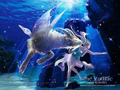 Animated screensaver capricorn under water of Zodiac. Here appears an strange creature half fish half goat, representing the zodiac sign of Capricorn. Zodiac Capricorn, Capricorn Love Compatibility, Capricorn Women, Zodiac Art, Aries Woman, 12 Zodiac, Sagittarius Constellation, Capricorn Tattoo, Scorpio Sign