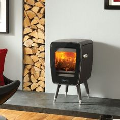 Dovre vintage 30 in anthracite with legs cool retro stove 1960's 70's design