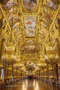 The stunning Grand Foyer of Palais Garnier - Opera House, Paris France © Brian Jannsen Photography