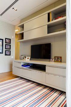 cz-babies-kids-quartinho-gemeos-12-anos-suite-15 Flat Screen, Furniture, Home Decor, Baby Room Girls, Bedroom Decor, Quartos, Pranks, Tv Rooms, Tv Unit Furniture