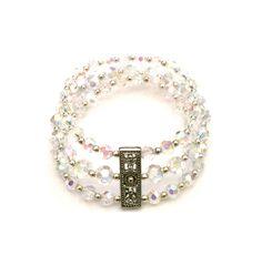 7.5 3 Row Stretch Crystal Bracelet