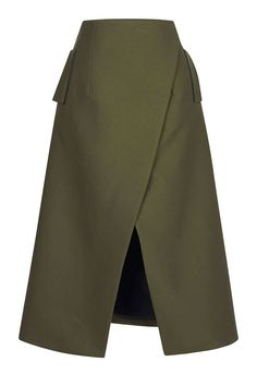 Take on the challenge of day-to-nightwear. This exquisitely tailored skirt from Josh Goot creates the perfect palatte for a black tee and a minimal beauty look. Josh Goot Wrap Midi Skirt $665 at Moda Operandi