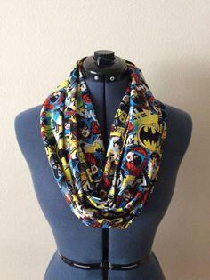 Batgirl foulard / Batgirl / Comic Book / écharpe Nerd / Geek / Pop Culture / foulard / super héros / Fandom