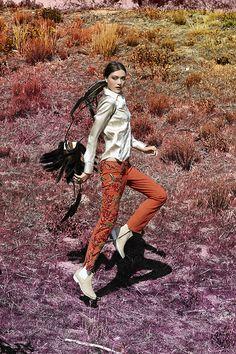 Vintage Roberto Cavalli Reef Raff Leather Pants - top & booties coming soon! #NastyGalVintage #VintageWestern