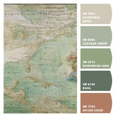 Paint colors from Chip It! by Sherwin-Williams Color Schemes Colour Palettes, Color Combos, Beautiful Color Combinations, Exterior House Colors, Exterior Paint, Room Colors, Wall Colors, Sw 7036, Up House