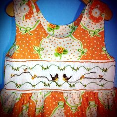 Tweet in Orange Size 2 by SmockinRobin on Etsy