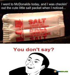 McDonald salt contains salt?