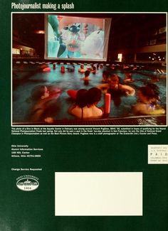 """Ohio Today, Fall 2000. """"Dive In Movie,"""" 1999 :: Ohio University Archives"""