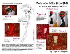 Men's and Women's Medieval Hat PATTERN