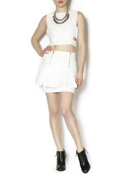 All white tiered skirt