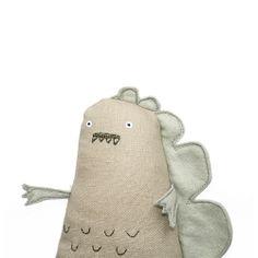 Handmade Toy Dinosaur - hehe he just makes me smile:)