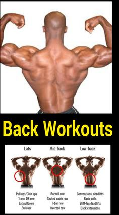 Best back workout routine for men and women to get bigger and v shaped back Best Back Workout Routine, Back Workout Men, Good Back Workouts, Biceps Workout, Back Exercises, Fun Workouts, At Home Workouts, Training Exercises, Gym Training