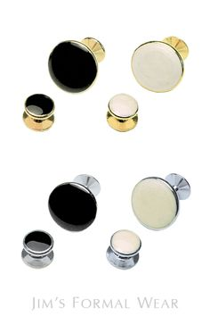 Premium Cufflinks and Studs Tuxedo Jewelry // Jim's Formal Wear Tuxedo Wedding, Wedding Suits, Tuxedo Accessories, Tuxedo Rental, Groom And Groomsmen, Formal Wear, Studs, Cufflinks, Tuxedos