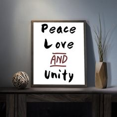 Love Peace and Unity Digital Art Print  by deificusArt on Etsy