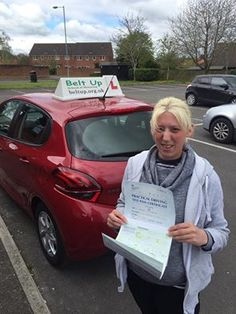 Emma Cleverly had a FIRST TIME pass with our instructor, Paul, with Only one minor fault for Emma!