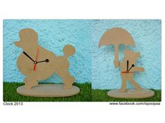 Pieces of wood, MDF clock. For Decoupage, Home Decor, and it is a gift.