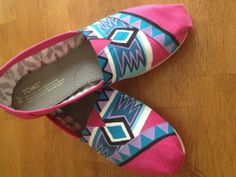 Custom Hand Painted Aztec Shoes Hand Painted Aztec by BifrostShoes, $70.00