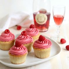 Raspberry Rosé Wine Cupcakes « Go Bold with Butter