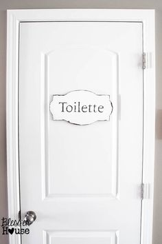 Simple And French Rustic Bathroom Sign