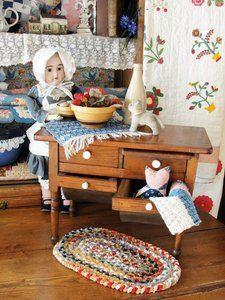 RARE Childs Doll Size Antique Dough Cupboard Salesman Sample Tin Bin Hoosier   eBay