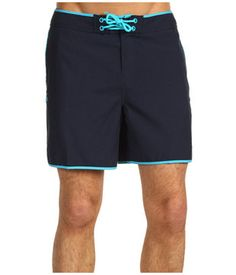 Swim trunks by Penguin - navy blue with turquoise accent. (Photo courtesy of Zappos.com)