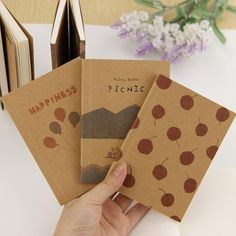 Notebooks 1 Piece Random Cover Vintage Retro Style Maple Cutout Notepad Soft Cover A5 Notebook With Lines Stiching Binding School Notebook Outstanding Features Office & School Supplies
