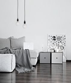Only Deco Love: By Lassen News in my Living Room My Living Room, Living Spaces, Gray Interior, Interior Design, Hanging Coat Rack, Huge Houses, By Lassen, The Way Home, Modern Spaces