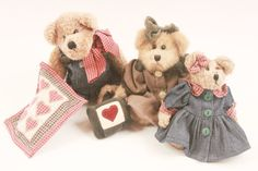 Boyds Bears Going to Picnic Lot Of Three Vintage Bears Clean and Tidy  Pink Room  by ThePinkRoom