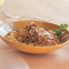 Chicken Fricassee with Orzo Recipe | MyRecipes.com Mobile