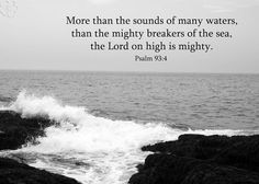 Bible Art  Psalm 93 verse 4  Black & White by PicturesofFaith