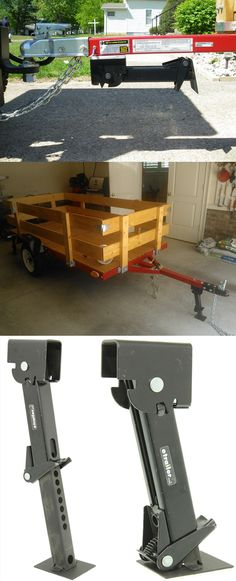Stabilizer Jack - 650 lbs capicity. Simply pull and swing the jack down to help provide additional support for you trailer. One of the more useful trailer accessories on camping and road trips.