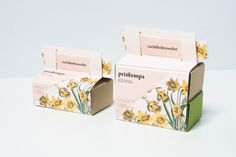"""thebackmatter: """" Printemps Take Away by Nat Tattaglia, Olaya Pintado & Eli García / Béhance Fictitious promotion for a restaurant company called Lateral, which takes place in spring season. """"Printemps"""", spring in french, it's a set of different..."""