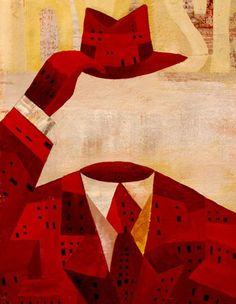 Homes : negrescolor illustration
