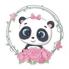 Baby Raccoon, Cute Raccoon, Baby Animal Drawings, Cute Drawings, Cute Panda Drawing, Baby Drawing, Cute Panda Baby, Baby Animals, Cute Animals