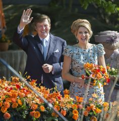 Zimbio: King Willem-Alexander and Queen Maxima celebrate Kroningsdag (King's Day) 4/26/14