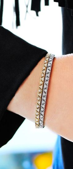 Aztec-inspired diamond Kathryn Lynn cuff