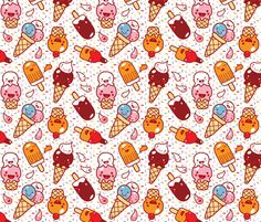 Ice cream :) fabric by bora on Spoonflower - custom fabric