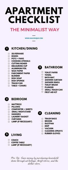 cool Salle à manger - Minimalist Apartment Checklist   Check out this awesome, minimal infographic foc... Check more at https://listspirit.com/salle-a-manger-minimalist-apartment-checklist-check-out-this-awesome-minimal-infographic-foc/