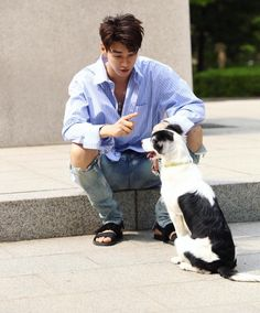 Kim young kwang and his dog