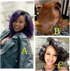 I love the one with purple color what about you?? Tag if you know them!!! #repost #hair #fashion #ombre #bob #perfect #hairinspiration #look #hairdye #purple #haircolor #brown #hairstyle #hairfashion #pretty #natural #girl #bob #beautiful #amazing #hairstylist #adorable #hairgoals #instamood #flawless #beauty #instapic #style #awesome Coco Black Hair provide the most natural looking hair and wigs Change yourself today!