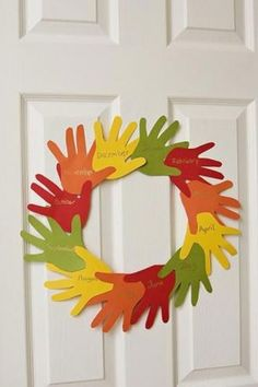 Fall Crafts for Kids - Handprint Wreath