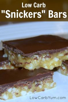 Low carb Snickers bar candy