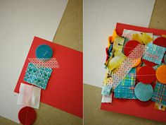 diy {fabric & felt garland} » ashleyannphotography.com {heart} the way this garland is packaged ♥